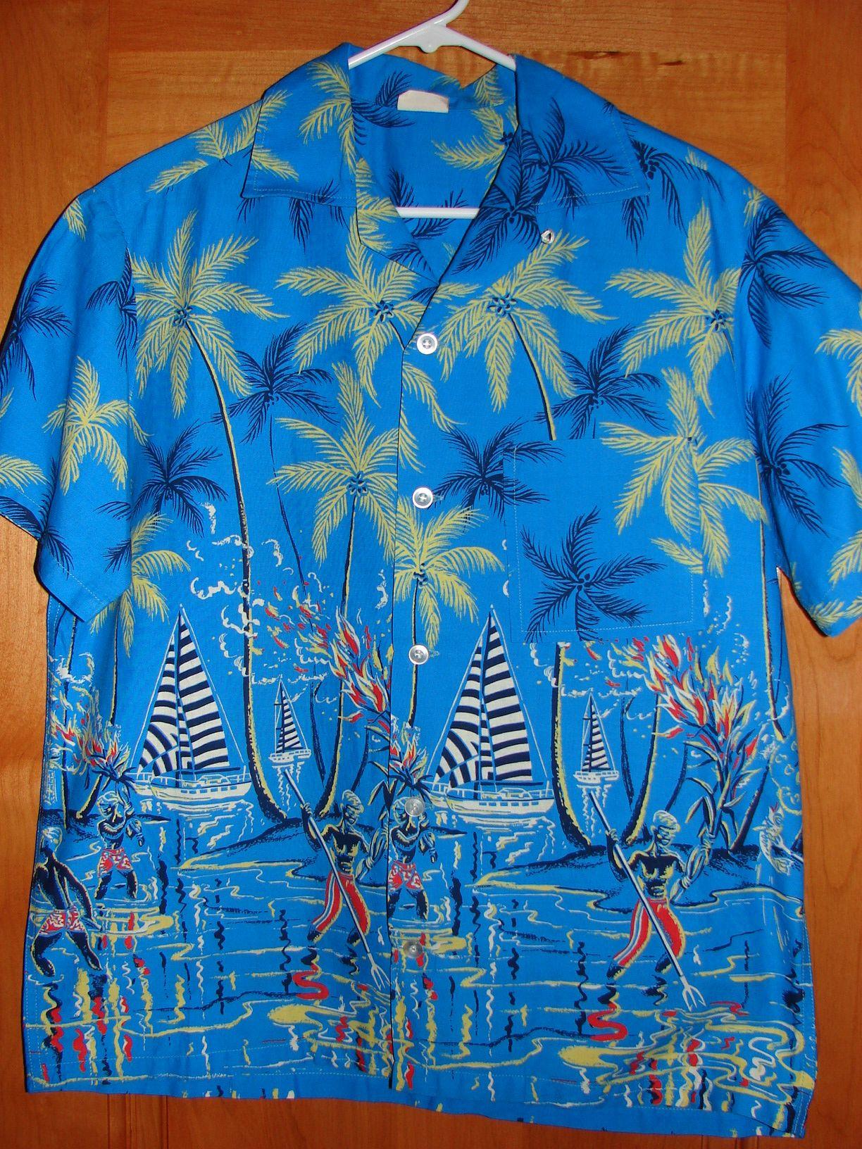 70s Aloha Shirt/ Hawaiian Shirt/ Vintage Aloha Shirt/ Mc Gregor Swim & Wear/ Small QqSeDkEXG