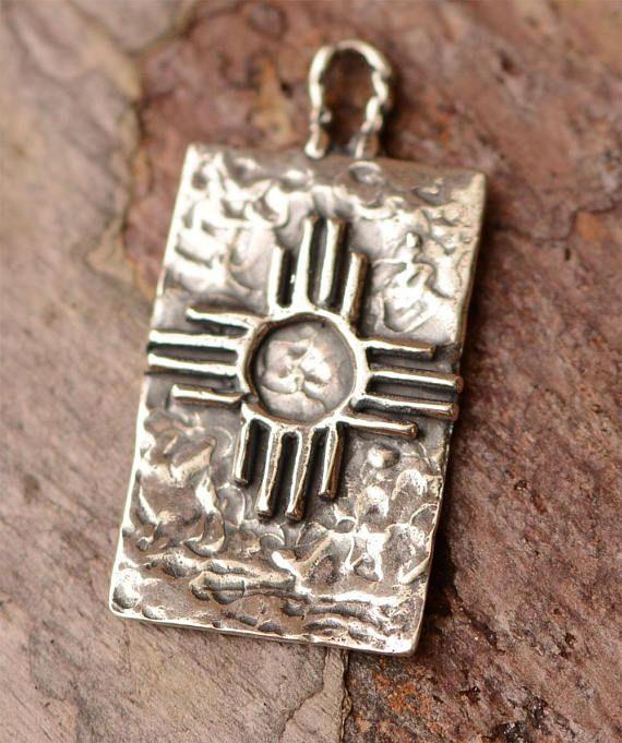 13a068cfe494 Zia Symbol Charm Zia Pueblo Cross in Sterling Silver CH-718 Brazaletes