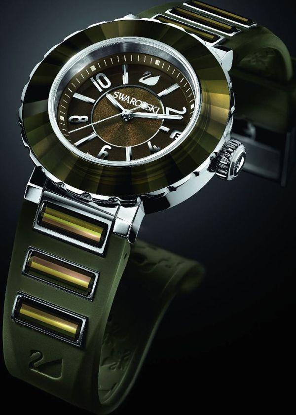 82cd17d5420acb max swarovski octea sport ultra khaki limited edition watch ...