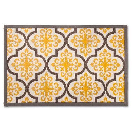 Yellowgray Patterned Comfort Kitchen Floor Mat 34X22  Threshold Custom Kitchen Mats Target Inspiration Design