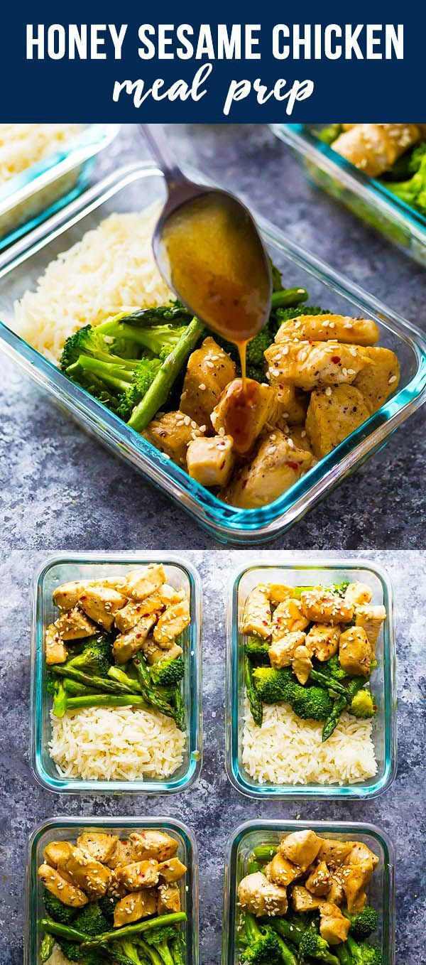 Photo of Honey Sesame Chicken Lunch Bowls  #bowls #Chicken #Honey #lunch #Sesame
