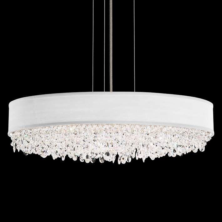 Eclyptix 24 Wide Oval Crystal Pendant Chandelier 1f540 Lamps