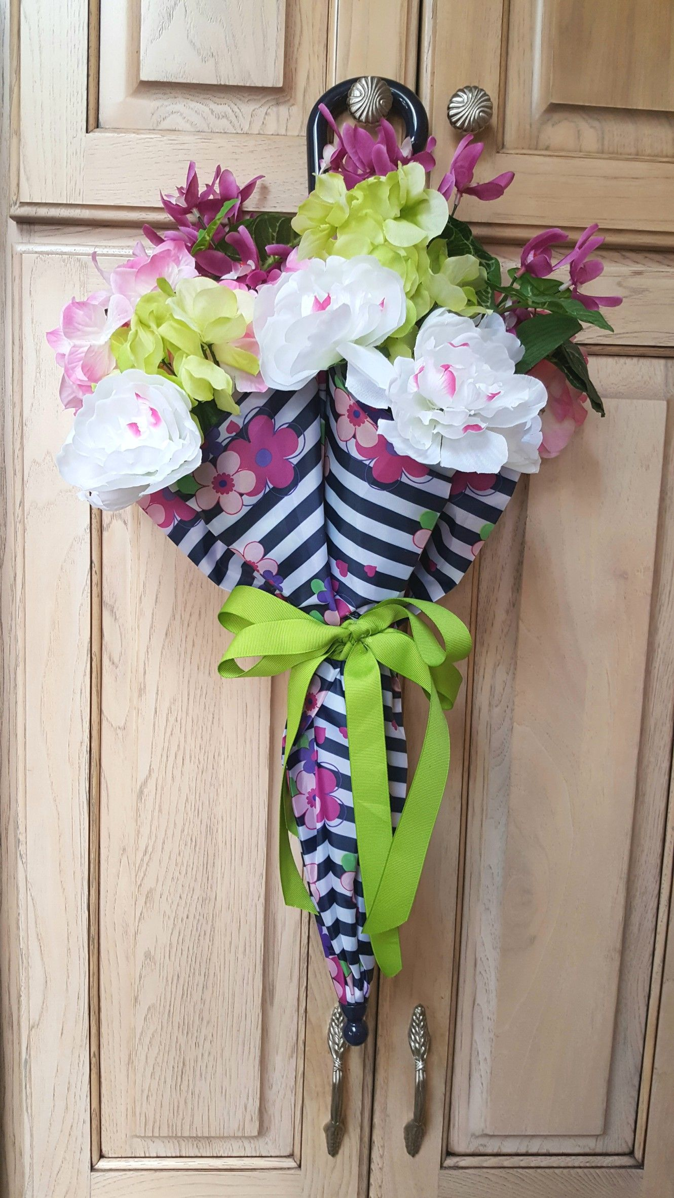 Happy Spring Umbrella Door Decoration By Lynn This Wreath Is For A