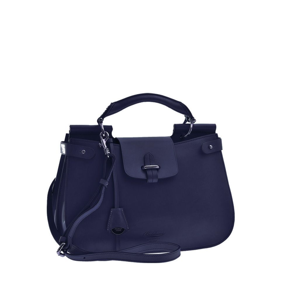 28009c29f4 Attavanti - Boldrini Isla Italian Leather Large Grab Handbag - Navy ...