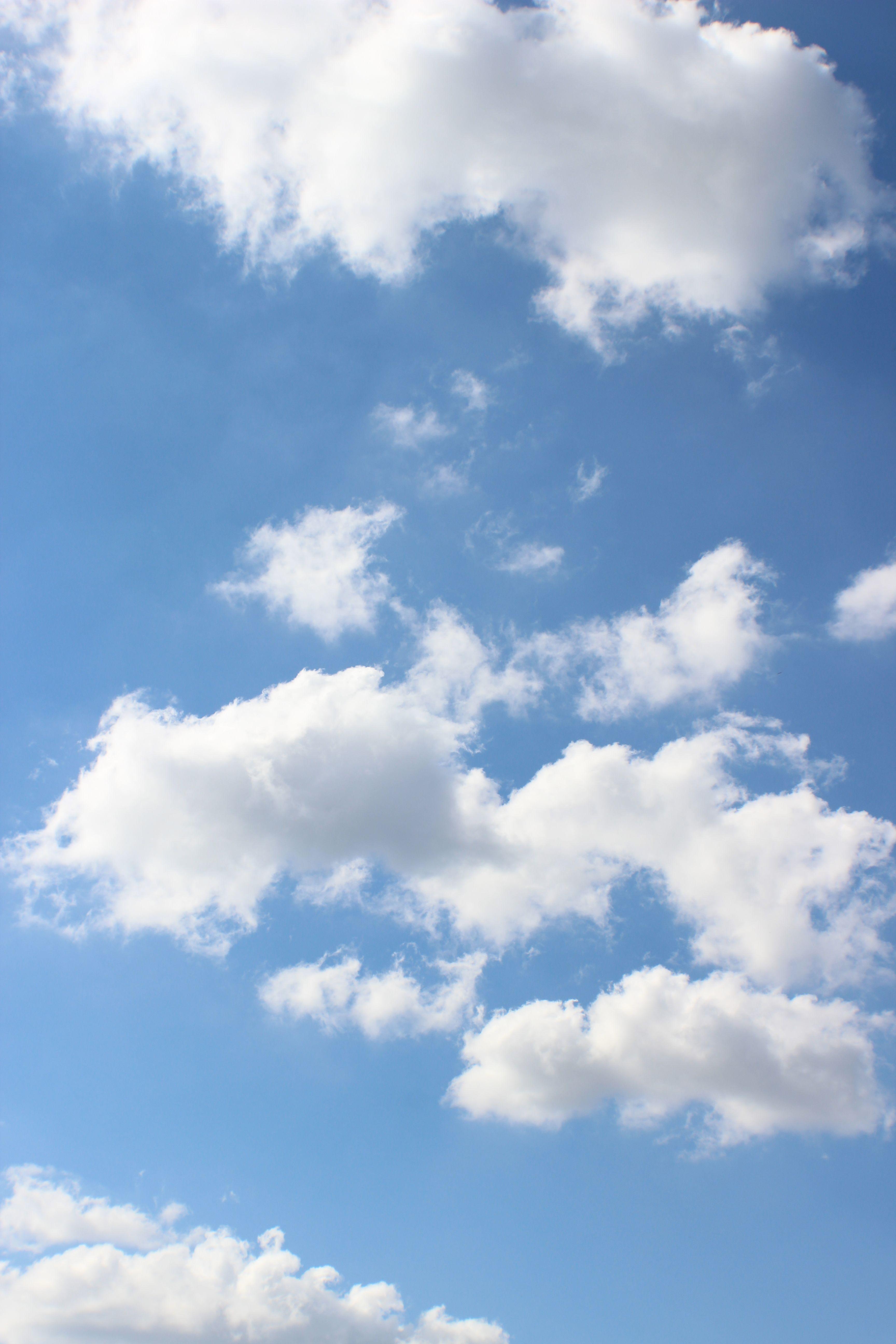 Blue Sky Aesthetic Background