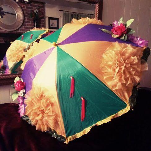 CHOOSE COLORS Second Line Umbrella Mardi Gras New Orleans Feather Boa Parasol