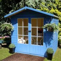 Shire 7X5 Shiplap Timber Summerhouse - Assembly Required from Shire