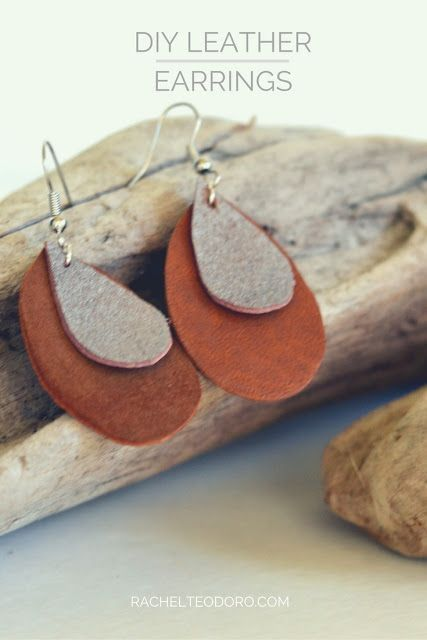 68204b51d DIY Leather Earrings | Agrarian Accoutrements | Diy leather earrings ...