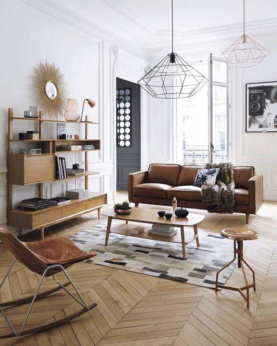 Decoration Salon Avec Canape Cuir Marron 15 en 15  Mobilier