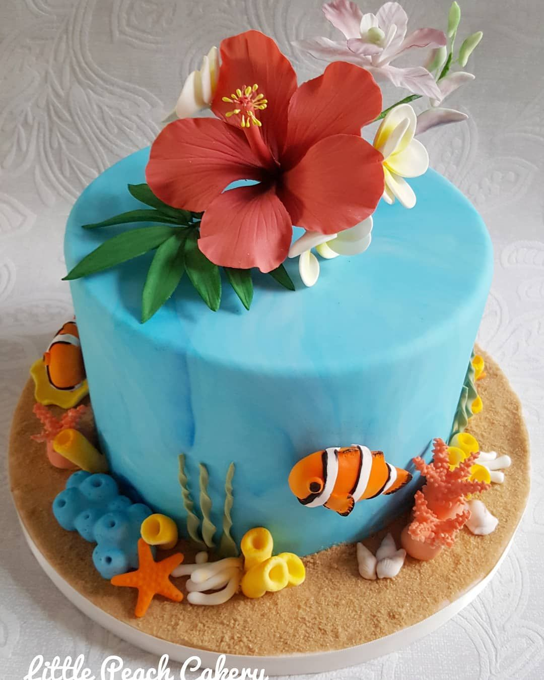 Coral Reef And Tropical Flowers Sugarcraftclass Thefairycakery