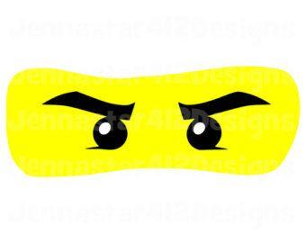 lego inspired ninjago eyes diy printable iron on transfer digital file   lego faces, ninjago