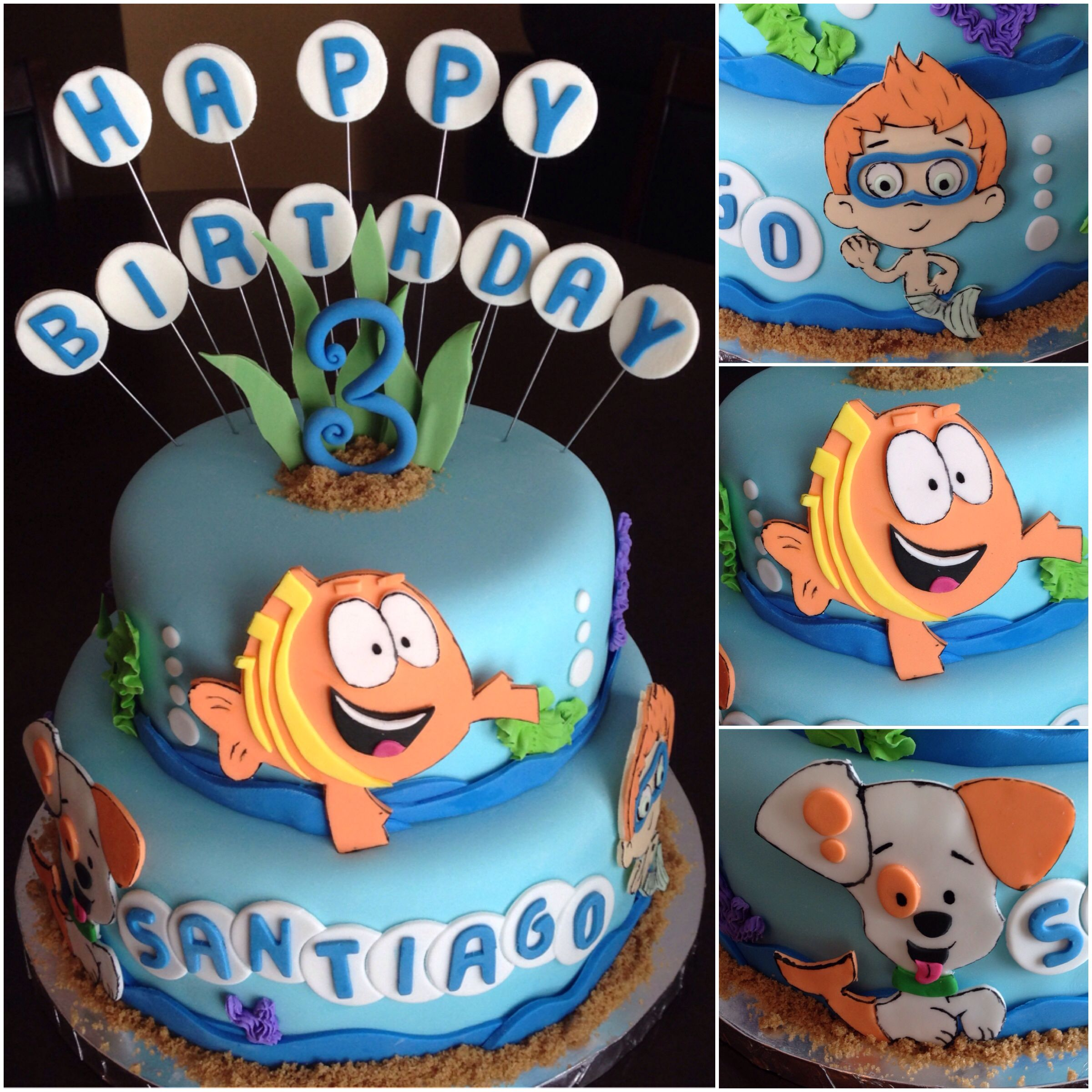 Wondrous Bubble Guppies Birthday Cake With Images Bubble Guppies Birthday Cards Printable Inklcafe Filternl