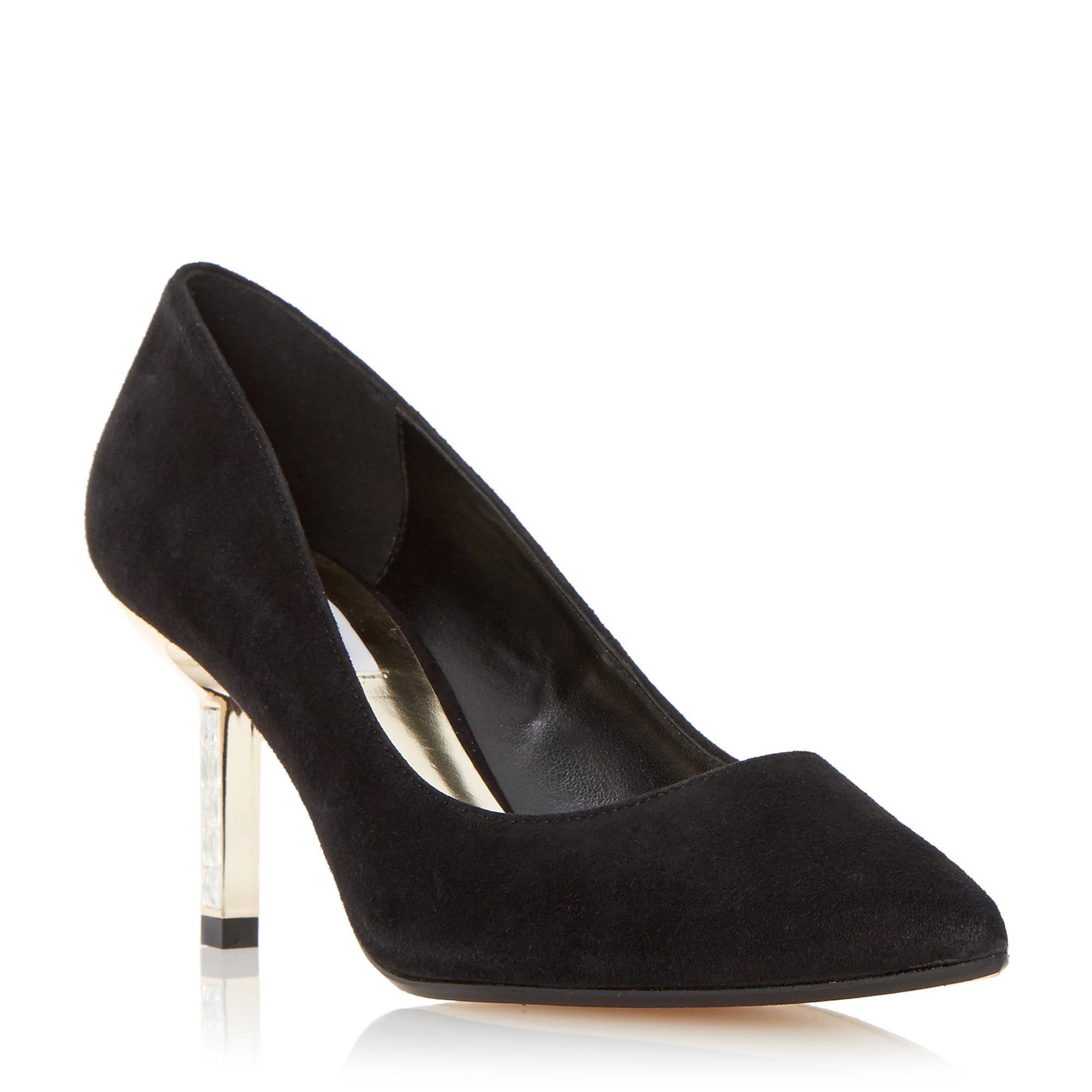 9eacd91fc5ca DUNE LADIES BEATRIXX - Jewel Mid Heel Court Shoe - black