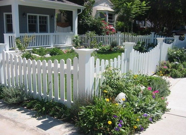 Picket Fence Front Yard Ideas | Featured outdoor living areas ...