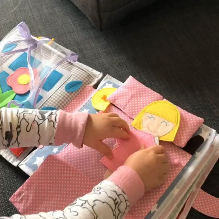 Pikabook my dolly, busy felt book, interactive sensory book