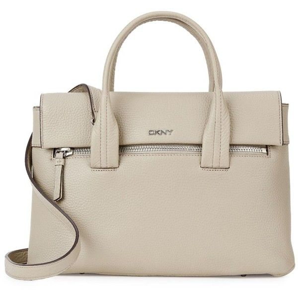 DKNY Tribeca taupe leather tote (1.170 BRL) ❤ liked on Polyvore featuring bags, handbags, tote bags, pink leather tote bag, tote handbags, leather tote purse, leather tote bags and leather handbag tote