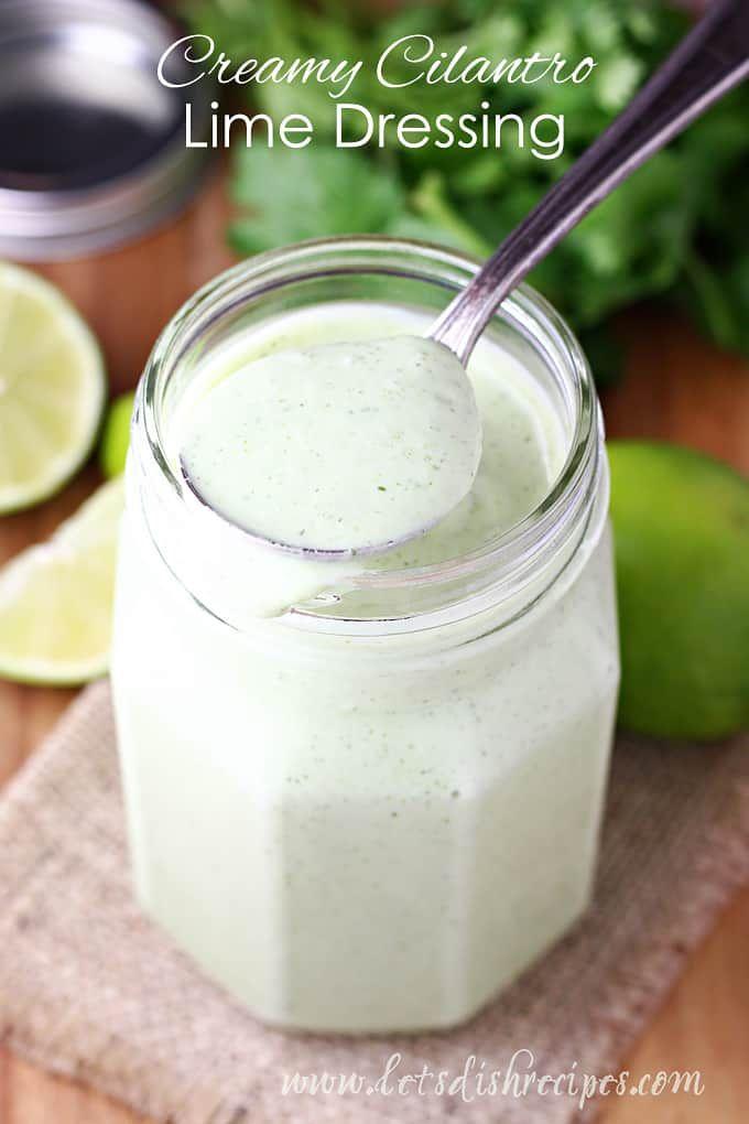 Creamy Cilantro Lime Dressing Recipe Creamy Cilantro Dressing Cilantro Lime Sauce Cilantro