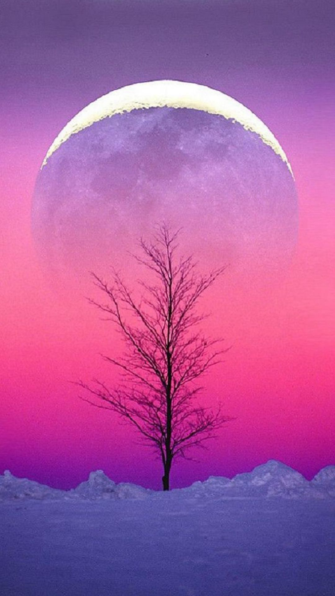 Pure Aesthetic Cold Sky View Iphone 6 Plus Wallpaper Moon Images Aesthetic Wallpapers Christmas Wallpaper Backgrounds