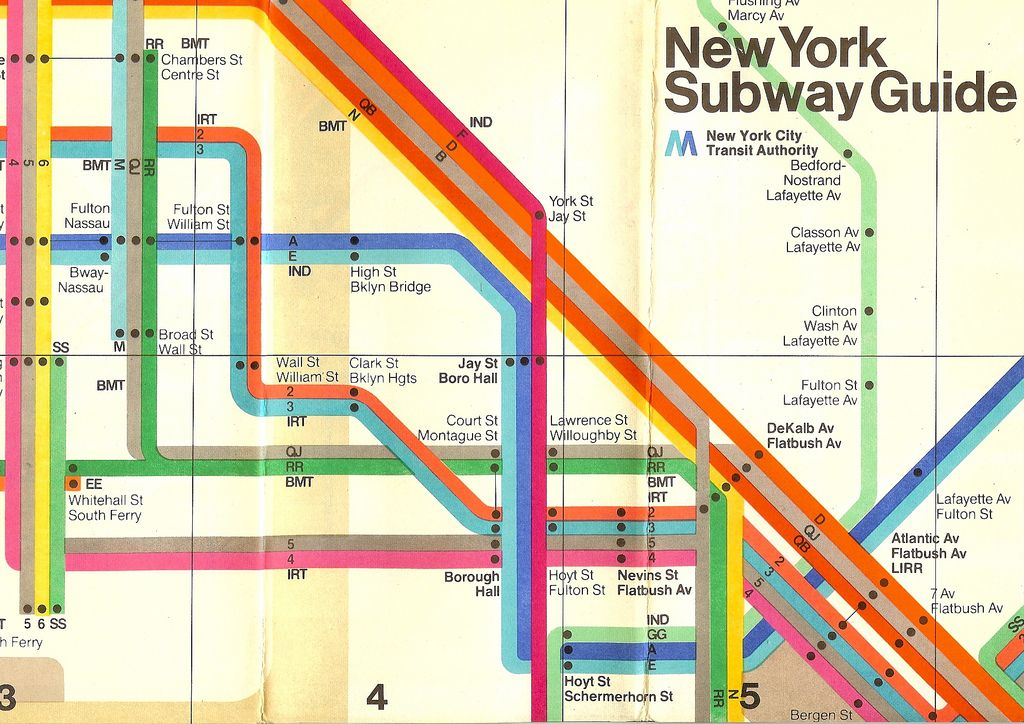Vignelli Subway Map Current.1970s Nyc Subway Guide Bright Lights Big City In 2019 Nyc