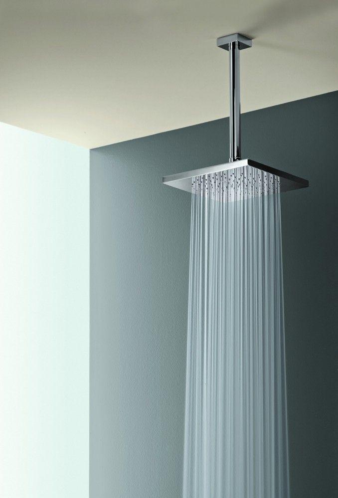 Square Rain Shower Head W Ceiling Mount Ceiling Shower Head