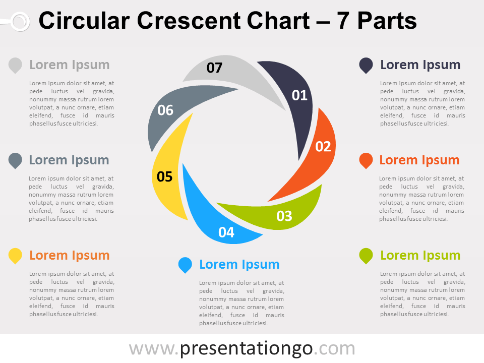7 parts circular crescent powerpoint chart presentationgo crescents 7 parts circular crescent powerpoint chart presentationgo toneelgroepblik Image collections