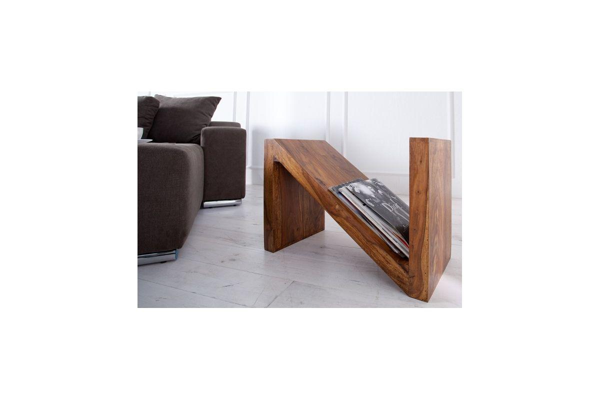 Stolik Zet kawowy drewniany stojak na gazety - Modo4u