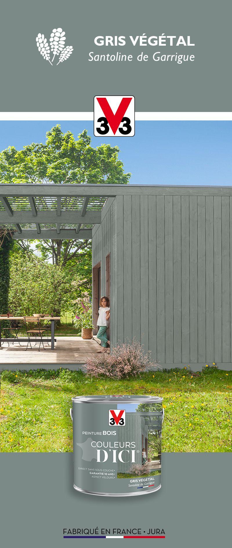 Gris Vegetal Santoline De Garrigue En 2020 Peinture Bois Exterieur Peinture Exterieure Peinture Facade Maison