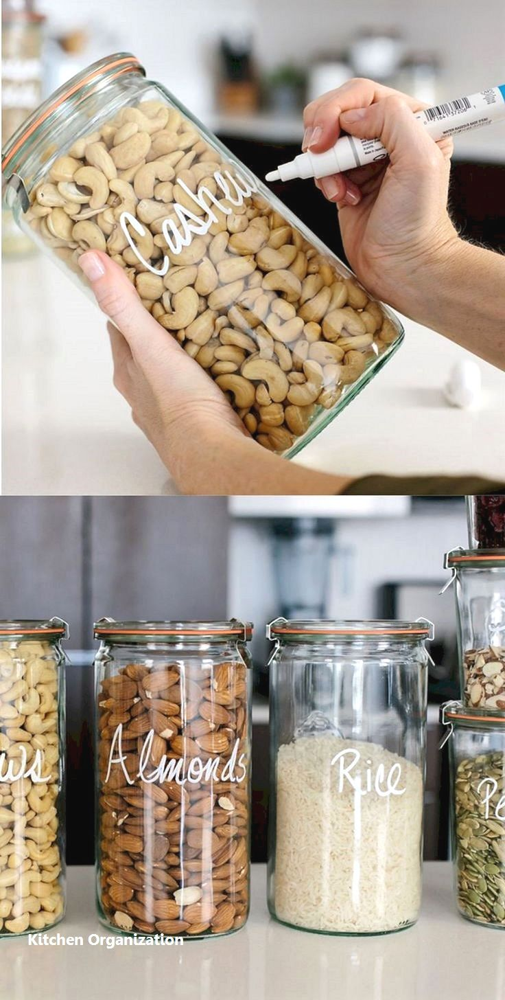New Kitchen Organization Ideas #pantryorganizationideas