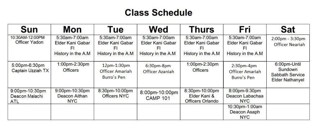 New IUICClassSchedule Online classes schedule, Class