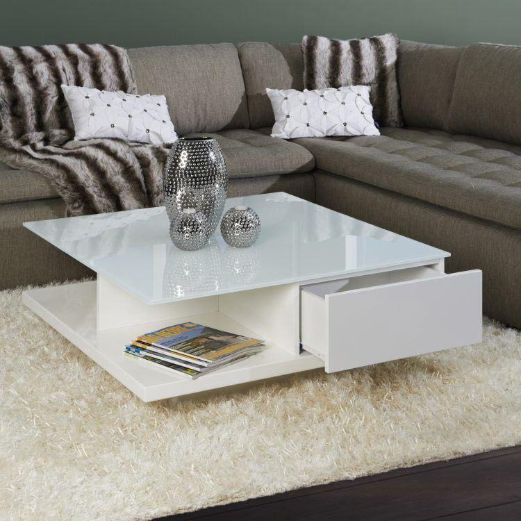 Tolle couchtisch weiß hochglanz mit glasplatte Wohnzimmer Pinterest