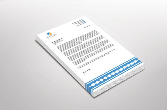 Bontika Letterhead Template by Dueza.Com on @creativemarket
