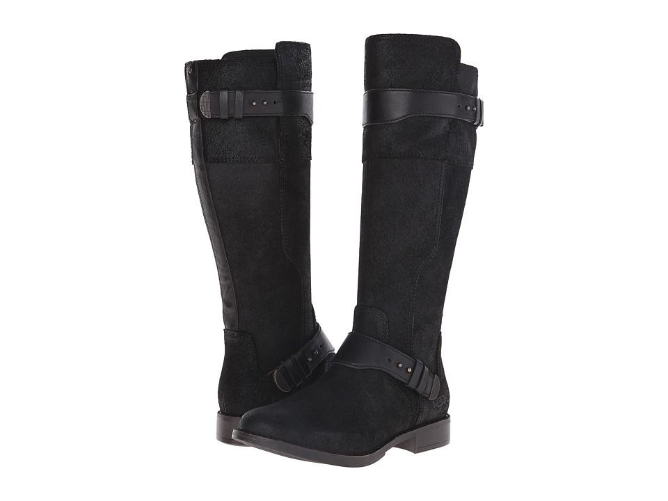 Womens Boots UGG Dayle Black Leather