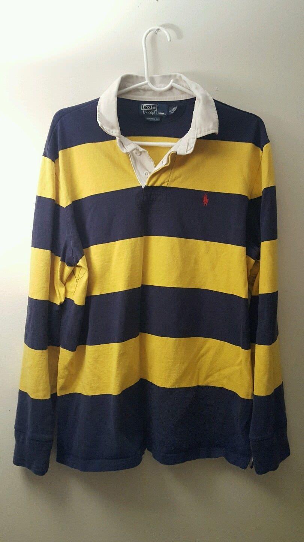 Ralph Lauren Men S Rugby Polo Shirt Long Sleeve Custom Fit Size