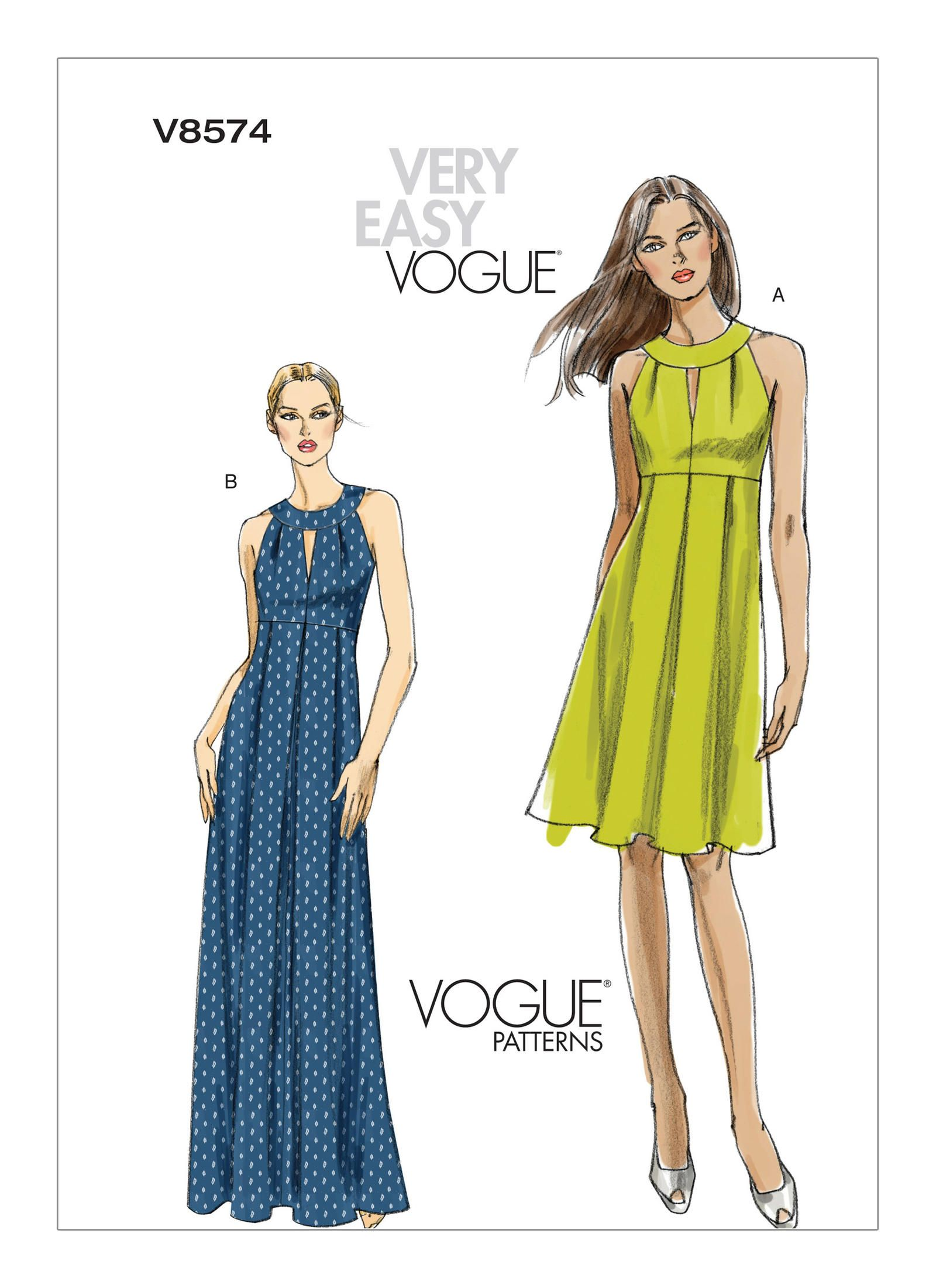 V8574 vogue patterns patterns pinterest vogue patterns buy vogue womens dresses sewing pattern 8574 from our sewing patterns range at john lewis ombrellifo Images