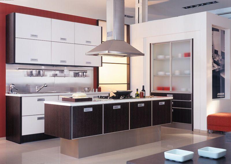Muebles para cocina en melamina con cantos en aluminio, puertas ...