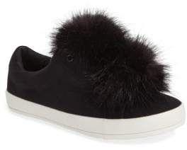 6e181a413c7ce2 Sam Edelman Cynthia Leya Faux Fur Pompom Slip-On Sneaker