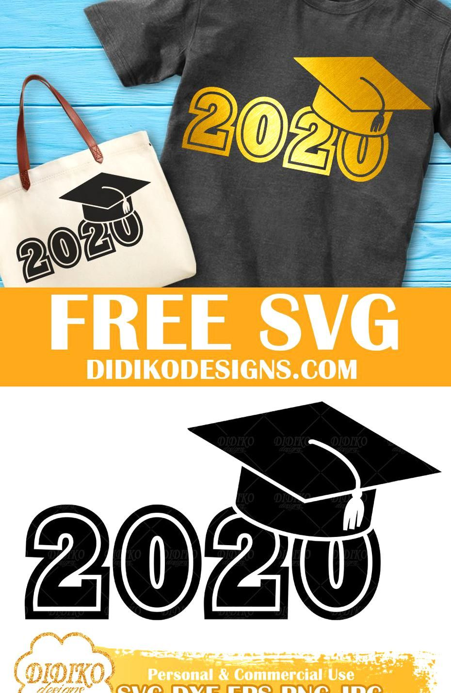 Free Class of 2020 SVG Graduation Hat Free SVG Graduation