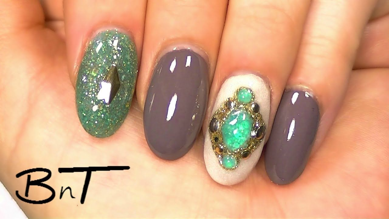 Acrylic nails create your own gemstones or jewels e041
