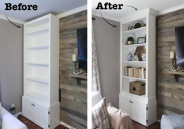 How To Make A Prefabricated Bookcase Look Like Built In Includes Tips On Cope Crown Molding And Anchor Wall