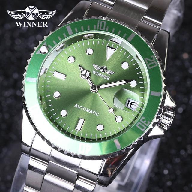 cb9c5a2a8cf Winner men Watches Top Brand Luxury Men Military Wristwatches Full Steel  Men Sports Automatic Watch Waterproof Relogio Masculin