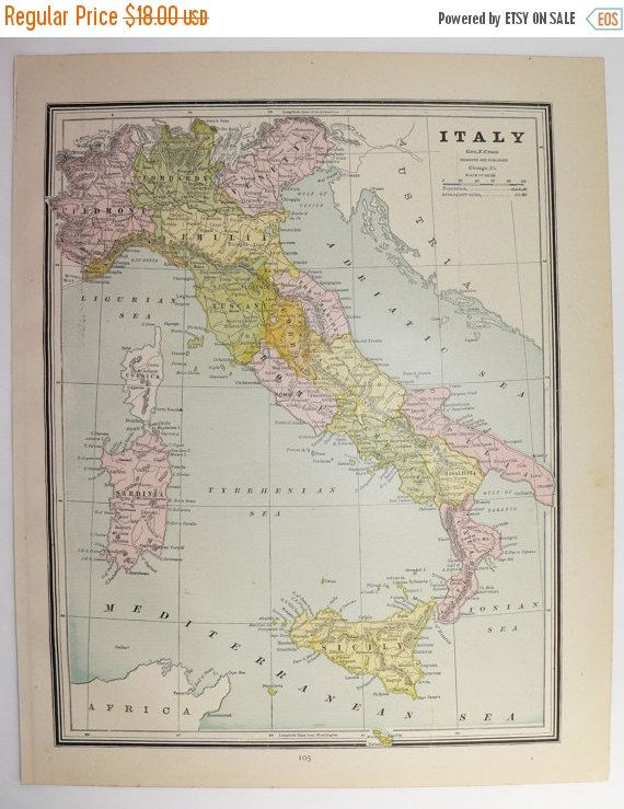 Vintage italy map greece greek islands map cyclades 1887 antique vintage italy map greece greek islands map cyclades 1887 antique map italian wedding gumiabroncs Image collections