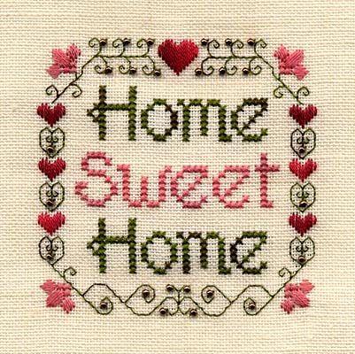Home Sweet Home Cuadros Punto De Cruz Punto De Cruz Cenefas
