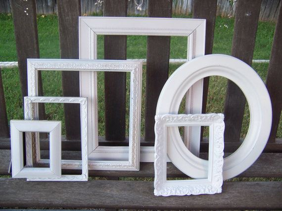 CLEARANCE Shabby Chic White Ornate Frames   Shabby, Empty frames and ...