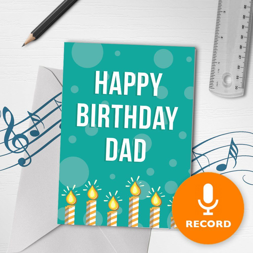 Happy Birthday Dad Musical Greeting Card Recordable Bigdawgs Greetings Papergoods Birthday Greeti Musical Birthday Cards Happy Birthday Dad Dad Birthday