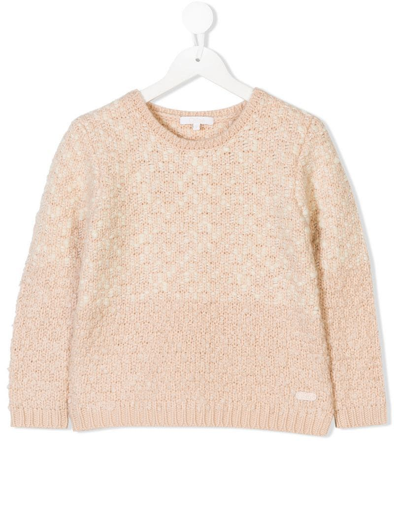 e7237d79012 Chloé Kids Chunky Knit Jumper   Products in 2019   Chunky knit ...