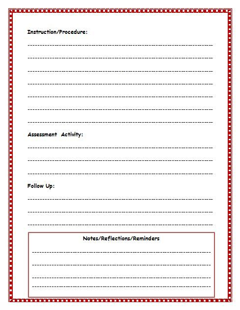 Free Lesson Plan Template Lesson Plan Template For Teachers - Simple lesson plan template for teachers