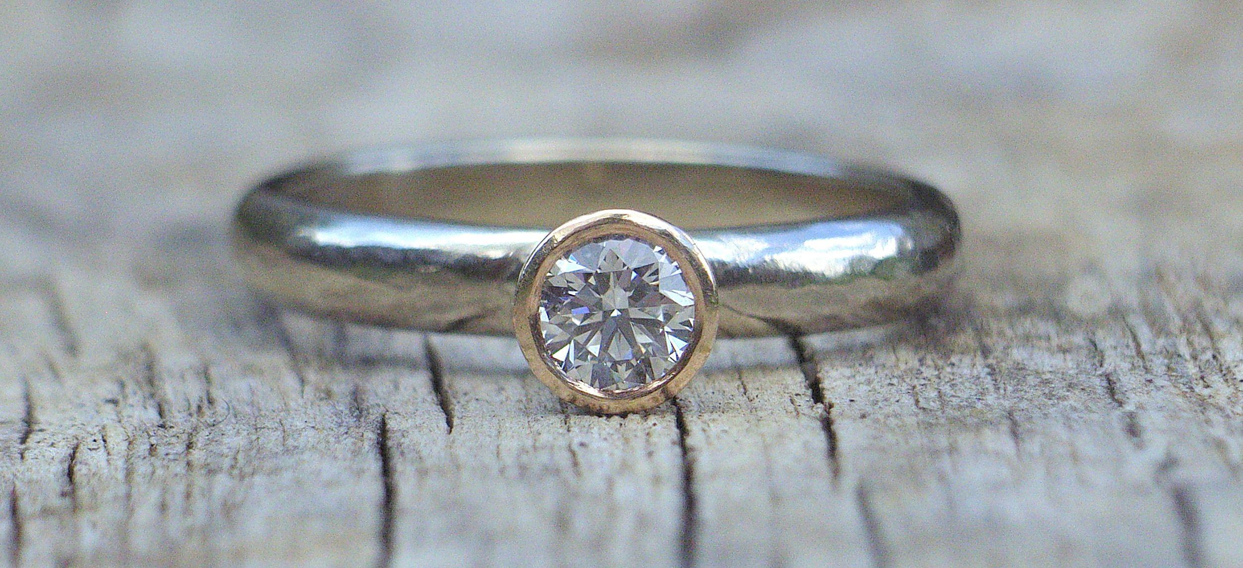 handmade diamond engagement ring eco friendly Ethical