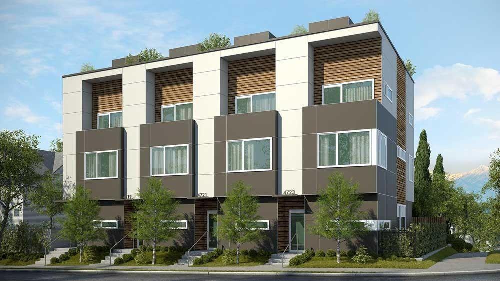 Four new townhomes are now under construction for an for Simple townhouse design