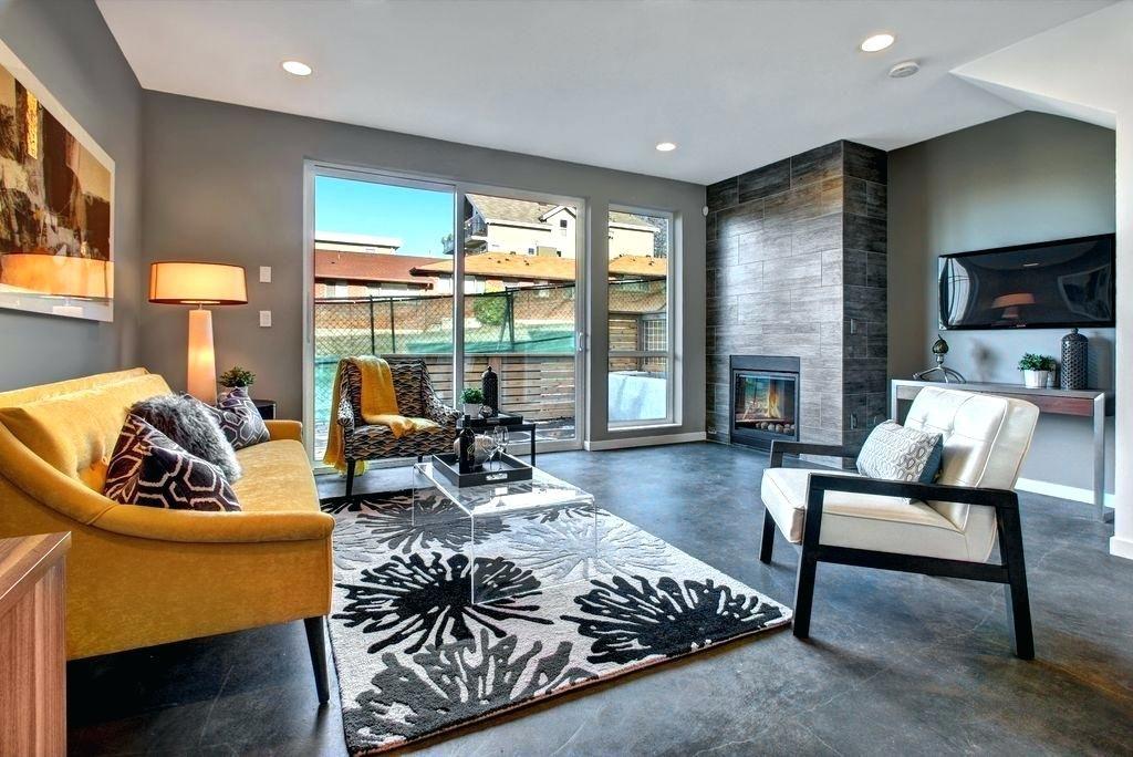 image result for concrete floor living room design