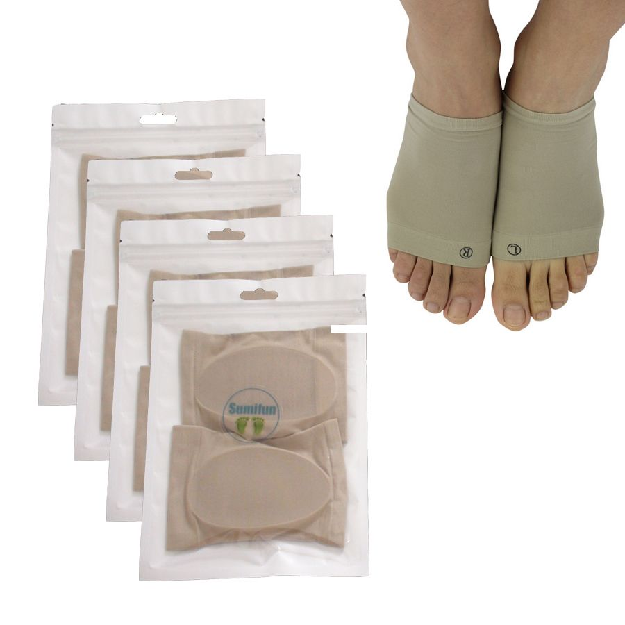 4pairs silica gel pad for Plantar fasciitis arch support